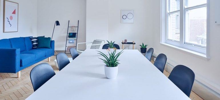 Modern office furniture for commercial movers Northern VA to relocate.